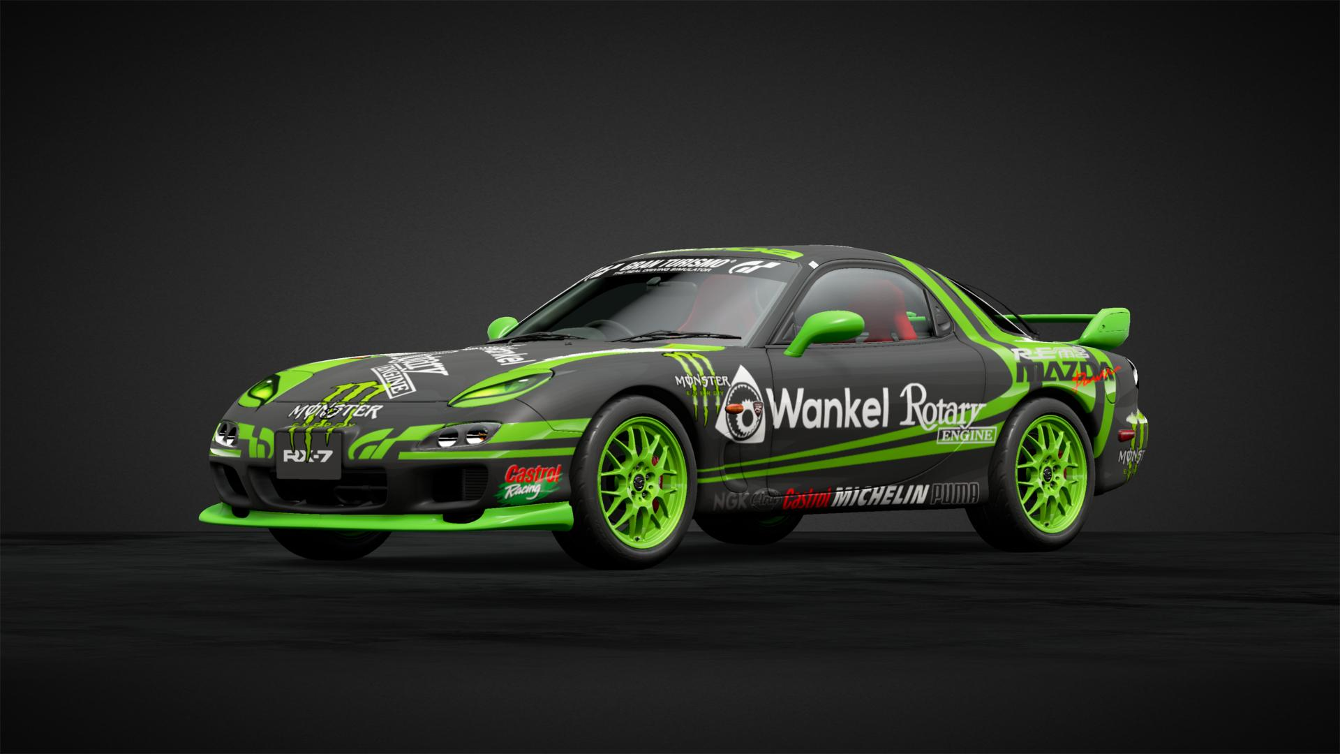 Mazda RX7 monster energy - Car Livery by robace | Community