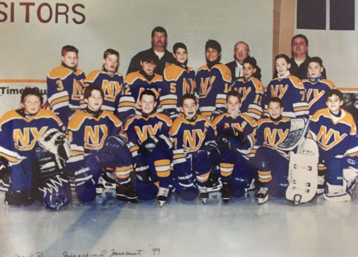 Tommy McCole (top row, second from the left) with his North York Rangers team.