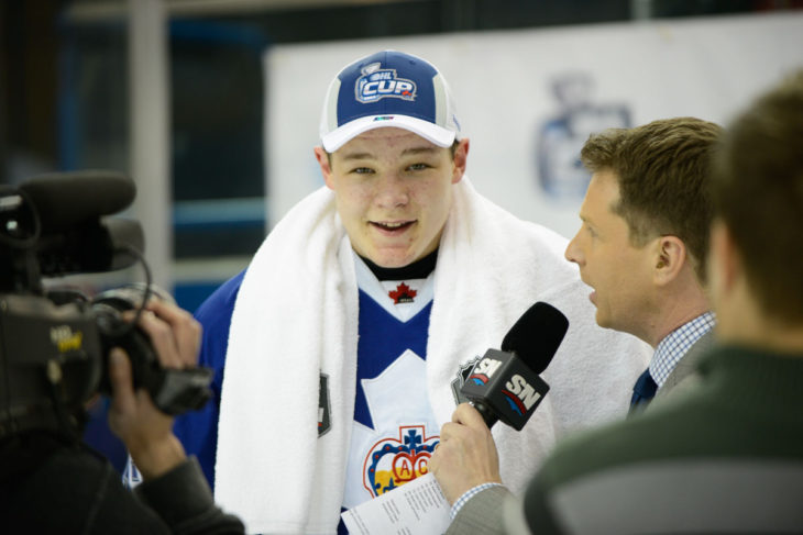 Matthew Strome after winning the 2015 OHL Cup with the Toronto Marlboros.