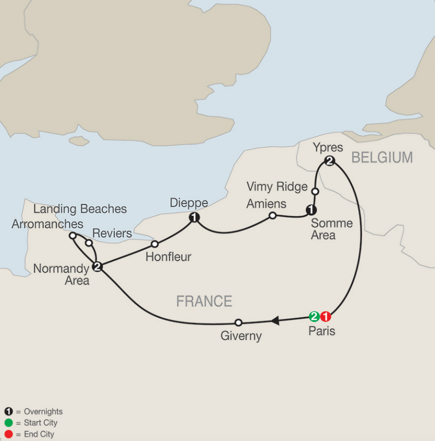 Map Of France Vimy.Save 150 Couple On Select Great Canadian War Memorial Tours With