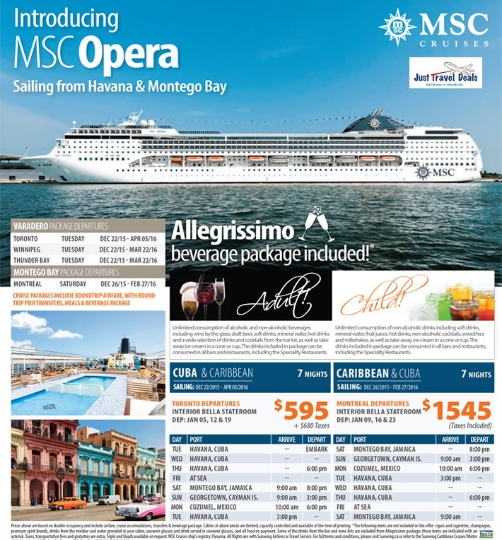 Msc All Inclusive Drinks Packages - Bolsover Cruise Club