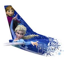 West Jet's Frozen-Themed Plane