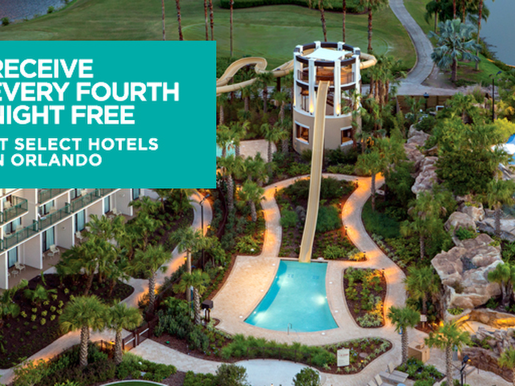 Receive Every Fourth Night Free At Select Hotels In Orlando