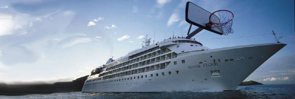 JUMPING THROUGH HOOPS US Olympic Basketball teams will stay on cruise ships at Olympics