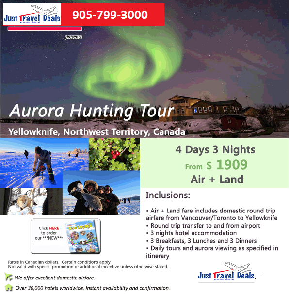 Yellowknife Travel Package