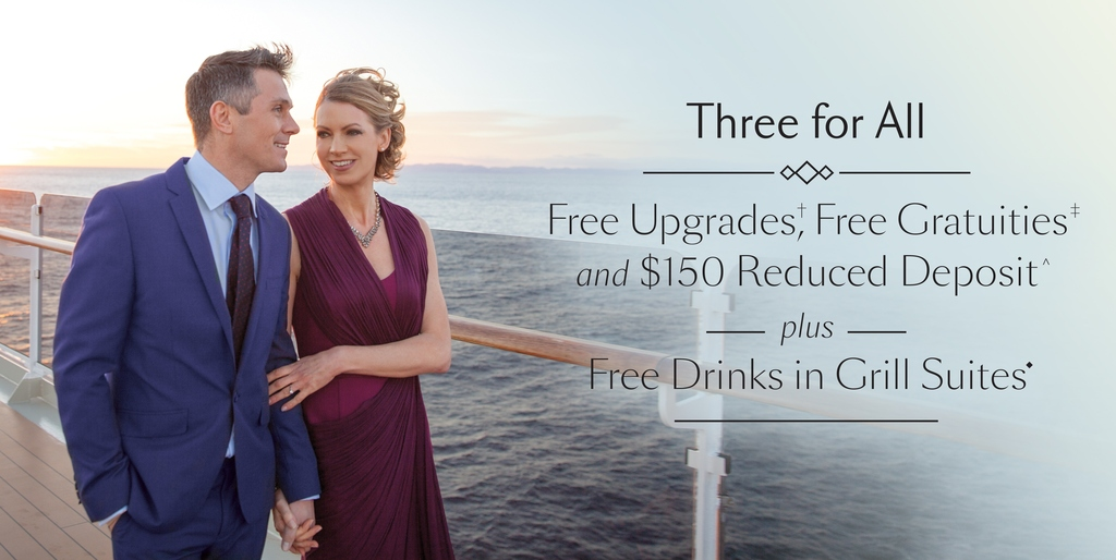 Cunard Announces Three for All Sale