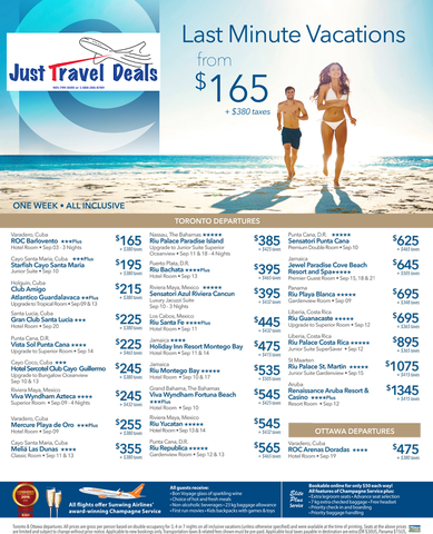 Last minute cheap caribbean vacation deals from 165 for Last minute travel california