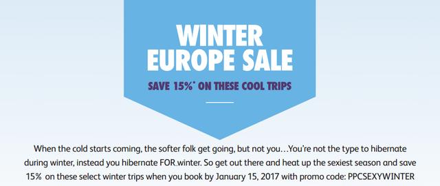 Contiki Winter Europe Sale