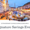 $600/person air credit during Seabourn's Signature Savings Event