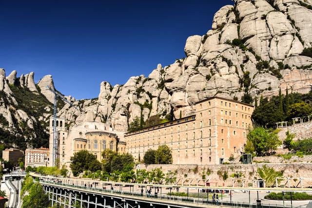 Magnificent Montserrat Abbey, Spain