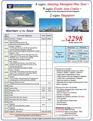 Asia Tour & Cruise