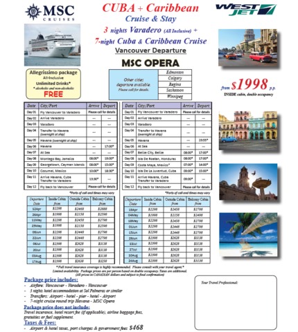Cuba + Caribbean Cruise & Stay