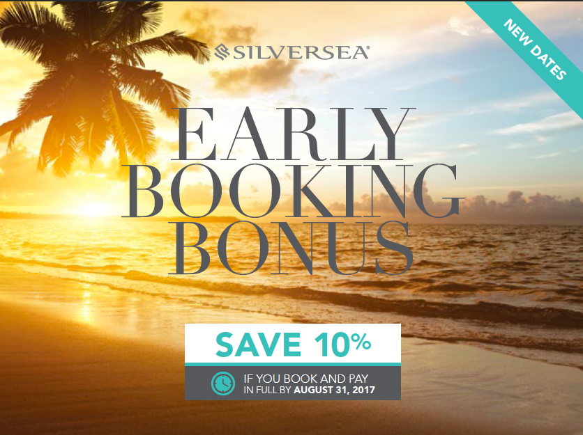 Book by August 31st and Save 10% on Silversea Luxury, Small Ship Cruises