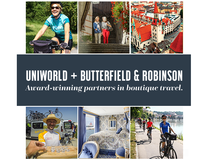 Uniworld + Butterfield & Robinson Active Travel River Cruises