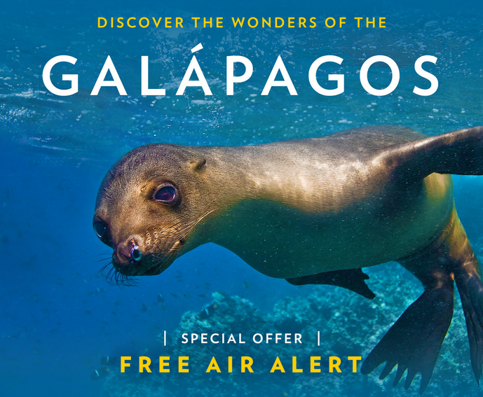 Free Air on National Geographic Voyages to Galapagos
