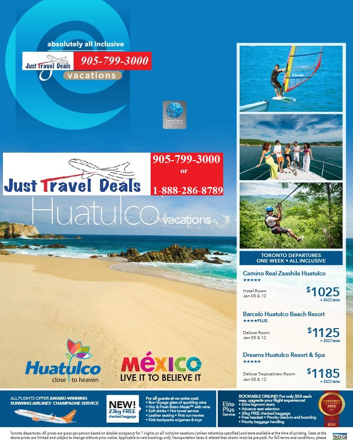 Huatulco One Week All Inclusive Vacations From 1025