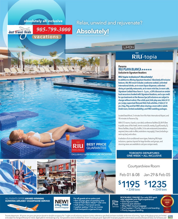 Panama Vacations All Inclusive Packages: Panama Riu Playa Blanca All Inclusive Vacations