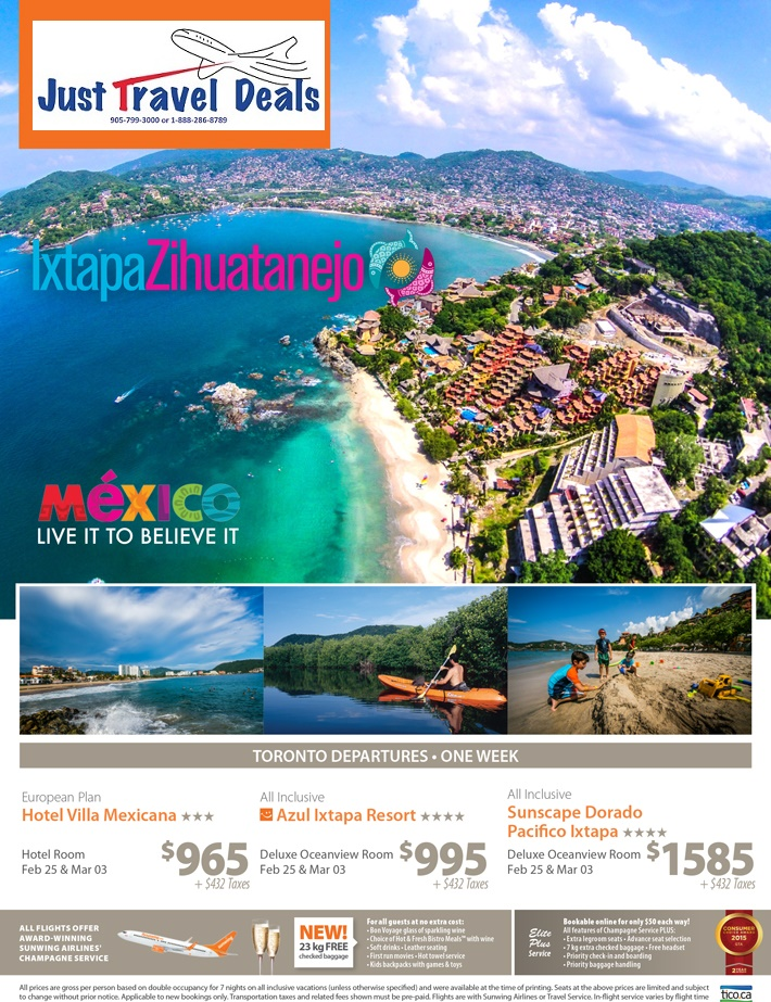 Explore Ixtapa Zihuatanejo Vacation Packages From 965
