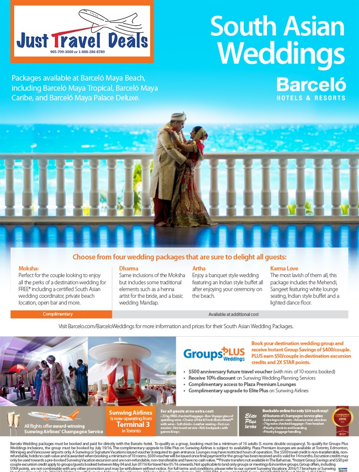 Book South Asian Weddings at Barcelo Hotels & Resorts
