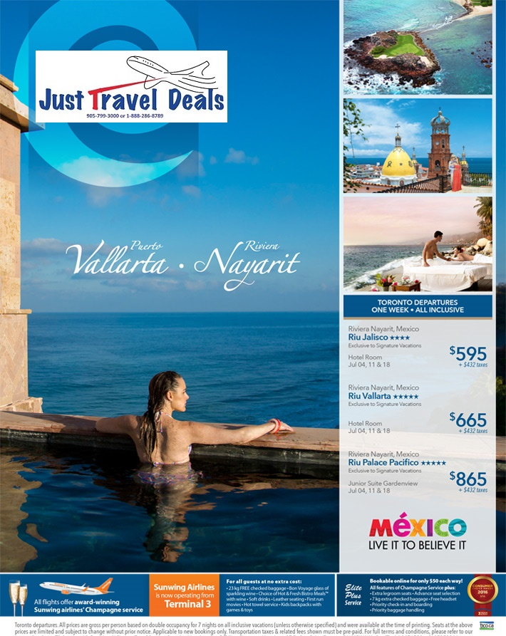 All Inclusive Sell Off Vacations To Mexico From 595
