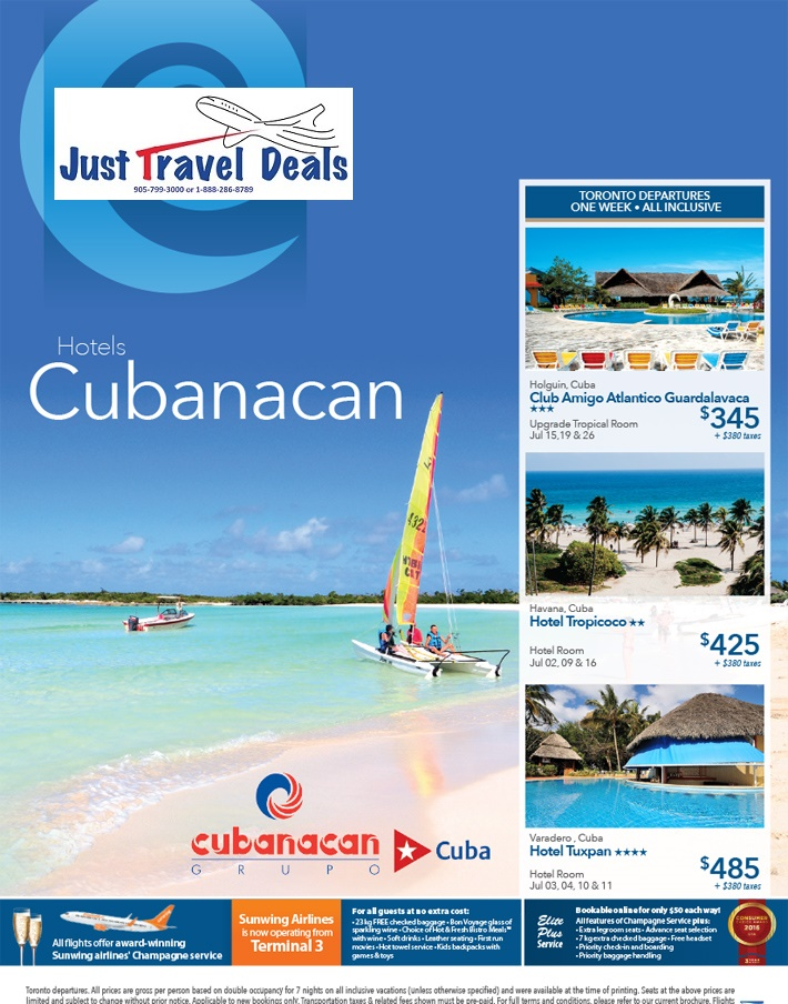 Last Minute Vacations From Toronto To Holguin Cuba