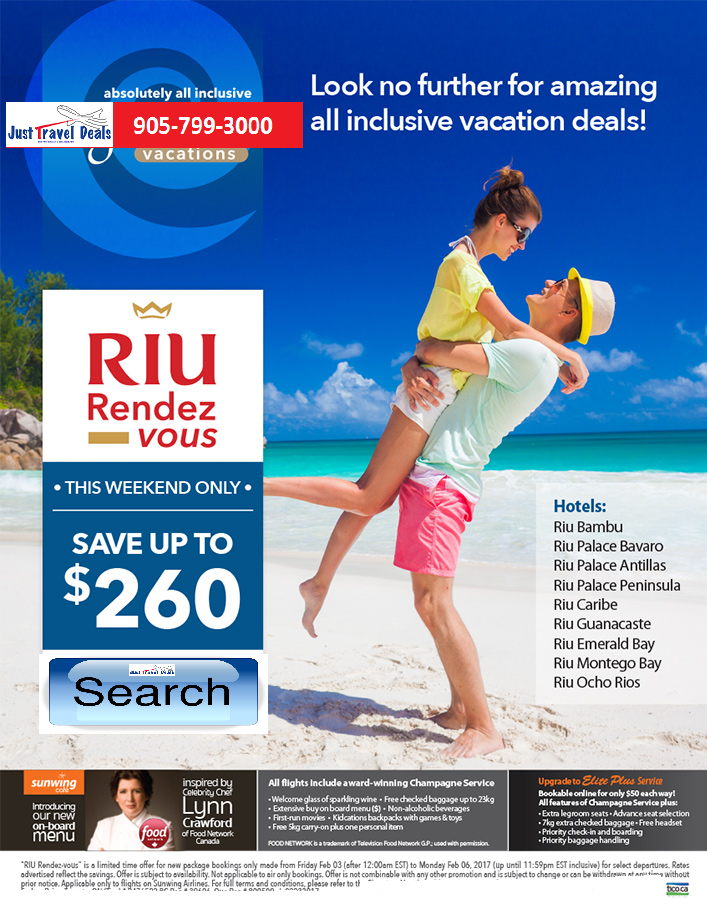 Riu Rendez-vous Vacation Sale - Save up to $260