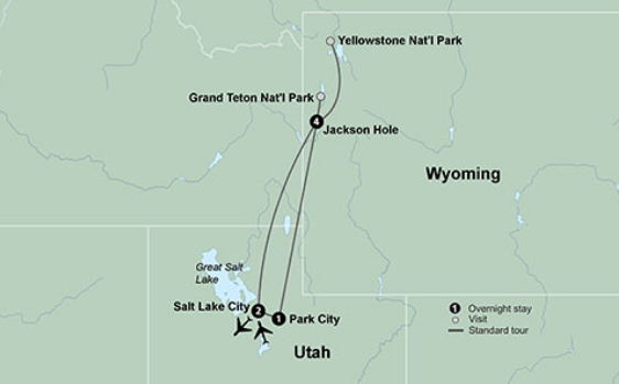 Map Of North America Yellowstone National Park.Visit America S Northern National Parks