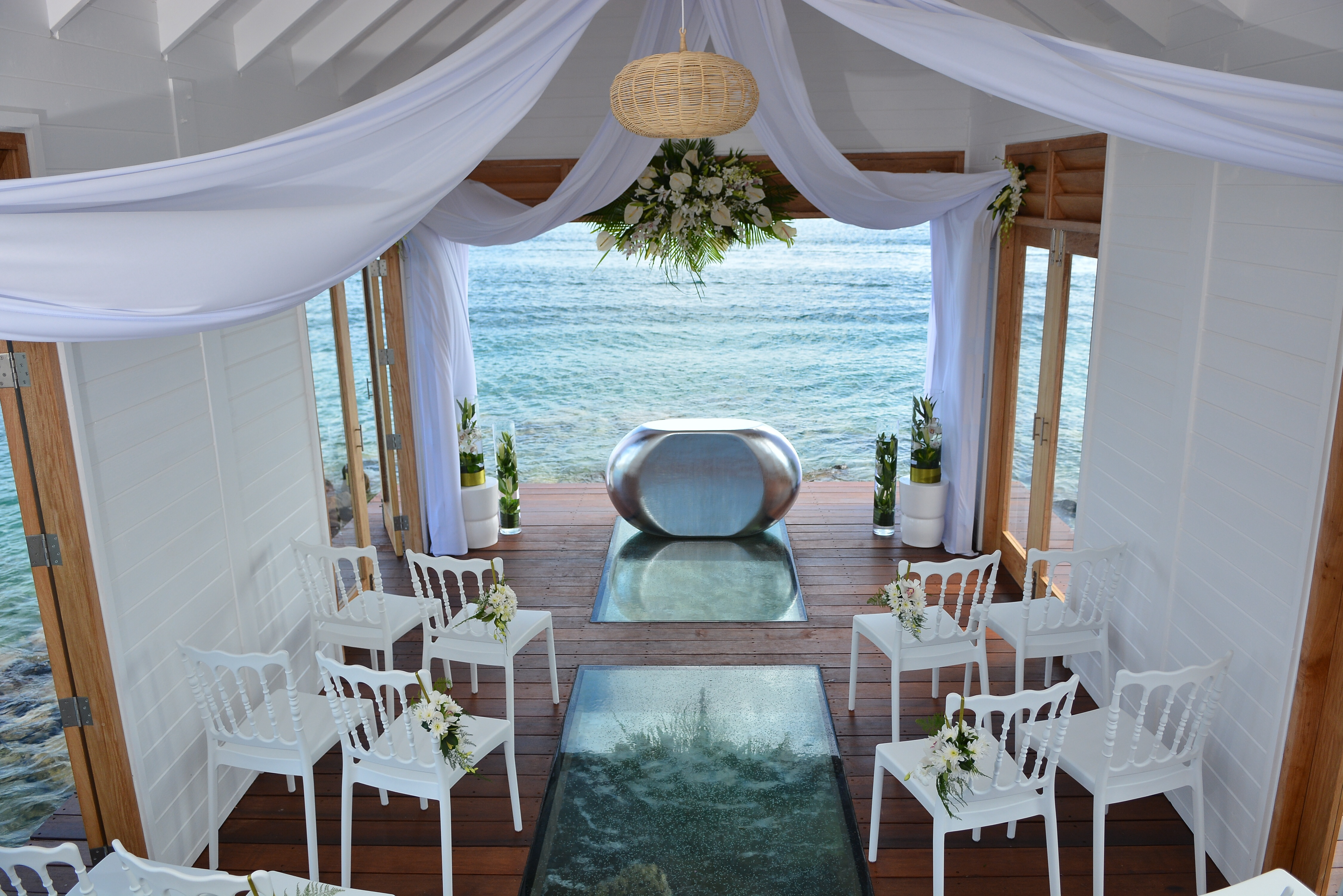 Stunning Overwater Wedding Chapel At Sandals Grande St Lucian