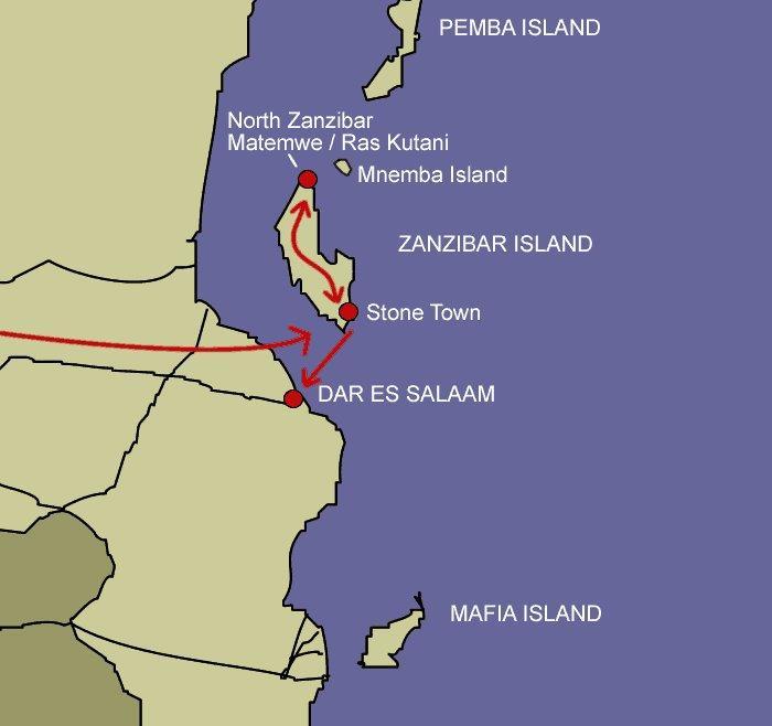 Map Of Africa Zanzibar.Zanzibar Exotic African Island