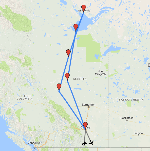 Map Of Canada 60th Parallel.Yellowknife And The Northwest Territories