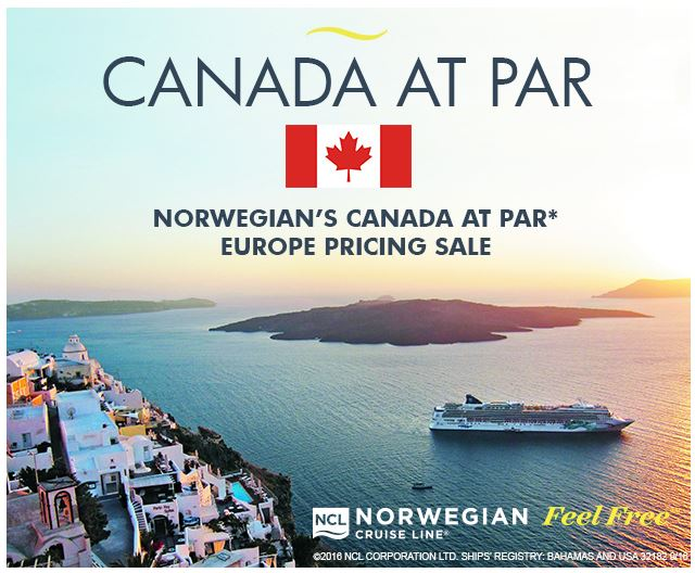 Norwegian Cruise Lines - 2017 Europe - Canadian Dollar at Par!