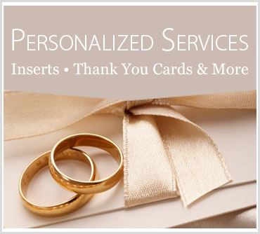 Personlized Inserts, Thank You Cards & Luggage Tags
