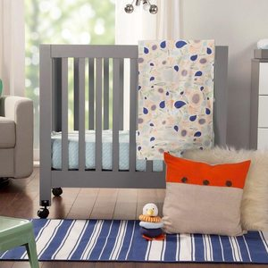 Babyletto origami mini crib in grey 108
