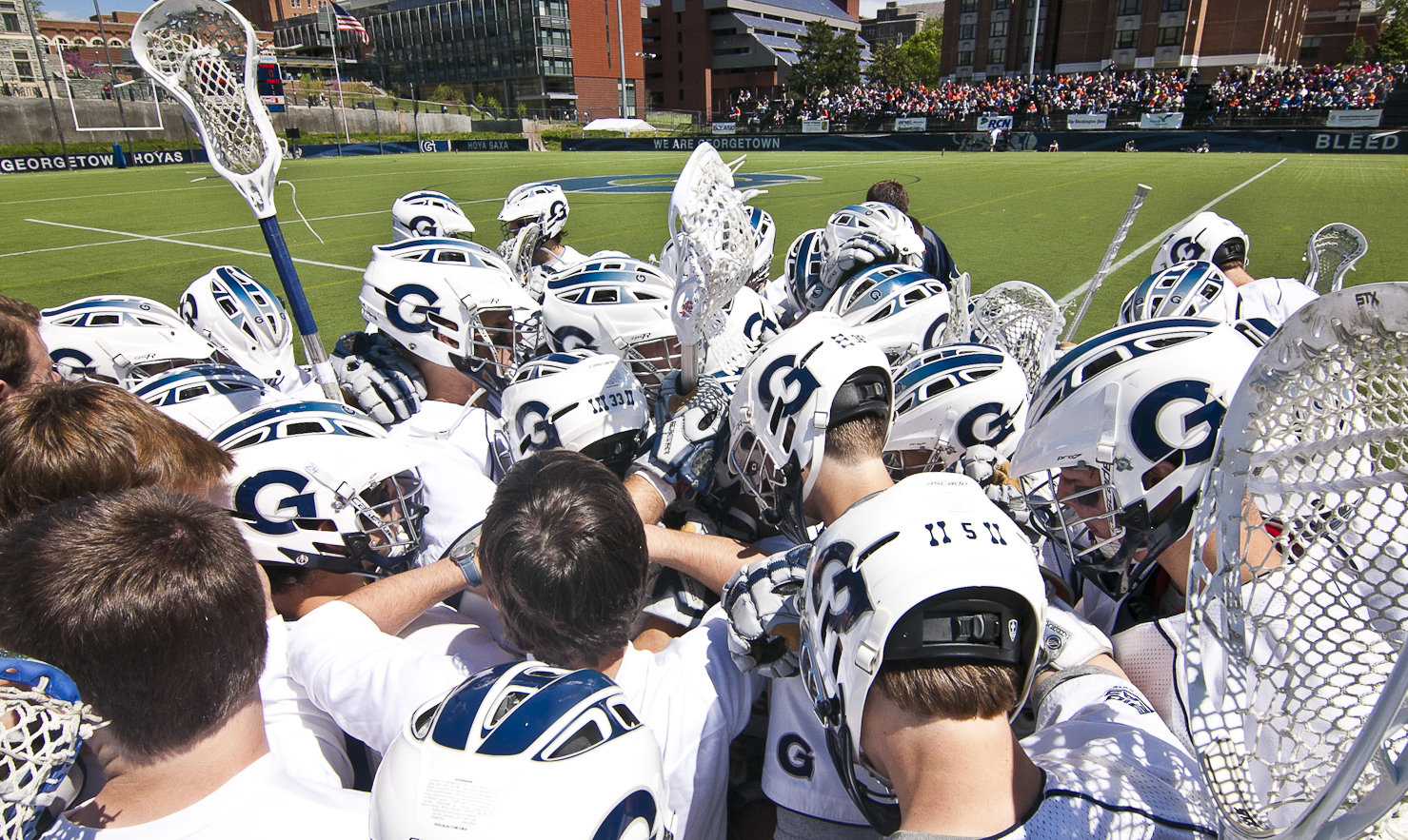 Georgetown's scrimmage has been moved to Johns Hopkins.