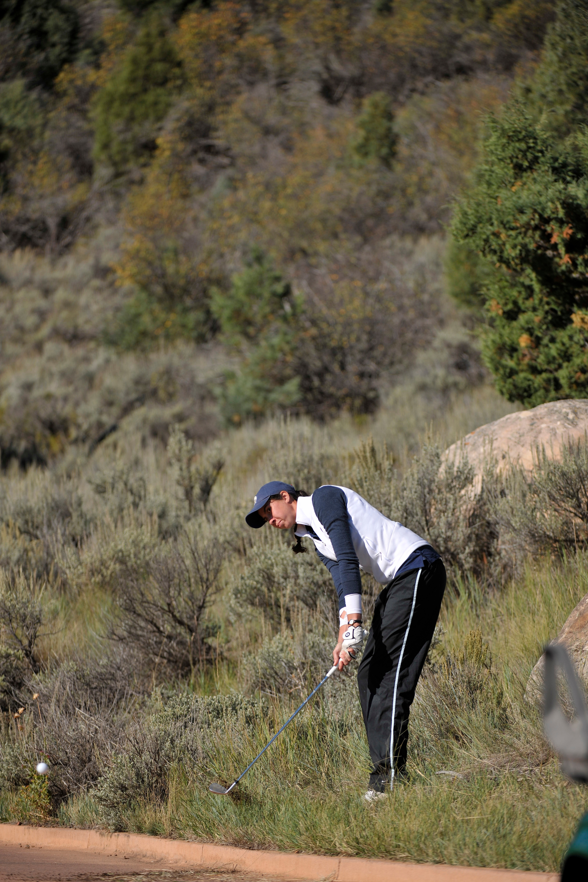 The Georgetown University women's golf team fired a 14-over par 302 in the second round and moved into sixth place at the Ron Moore Women's Intercollegiate, being hosted by the University of Denver at the Highlands Ranch Golf Club in Colorado.