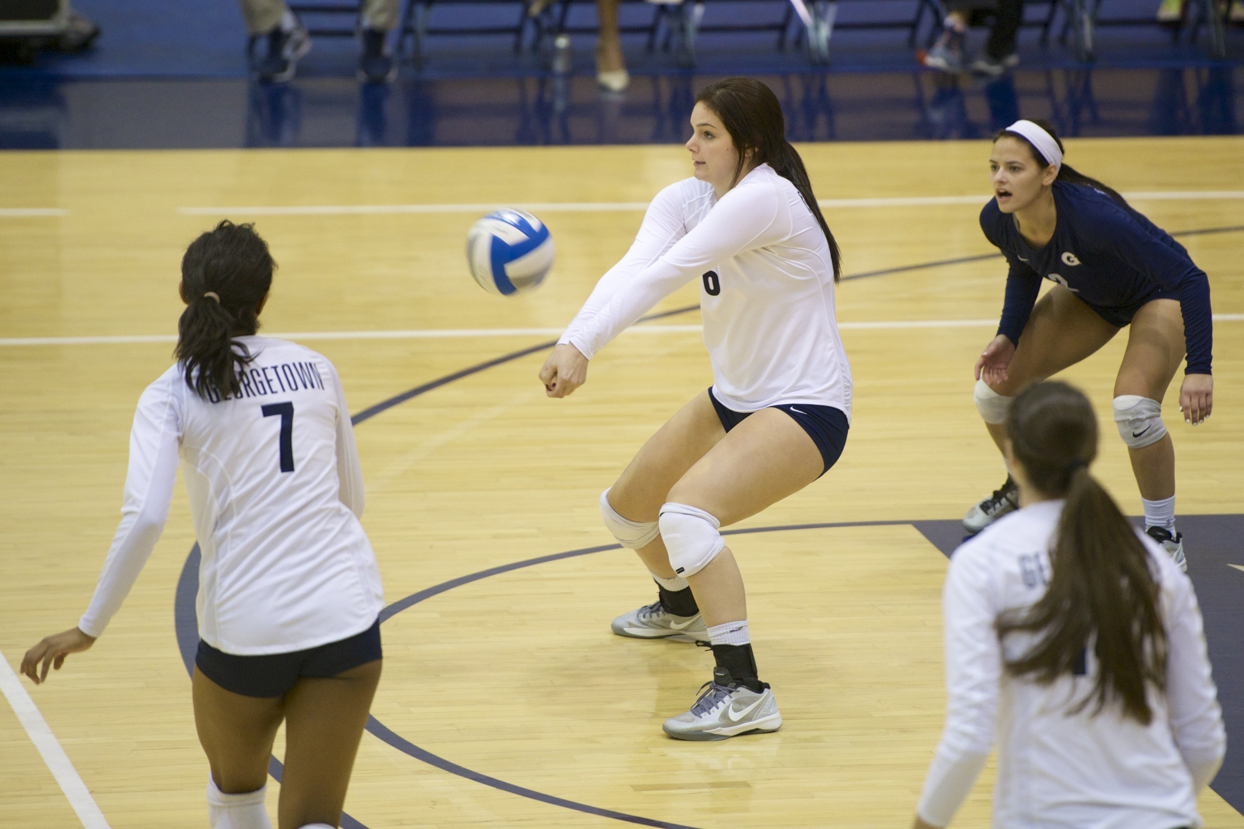 Alex Johnson had a double-double with 12 kills and 10 digs on Sunday