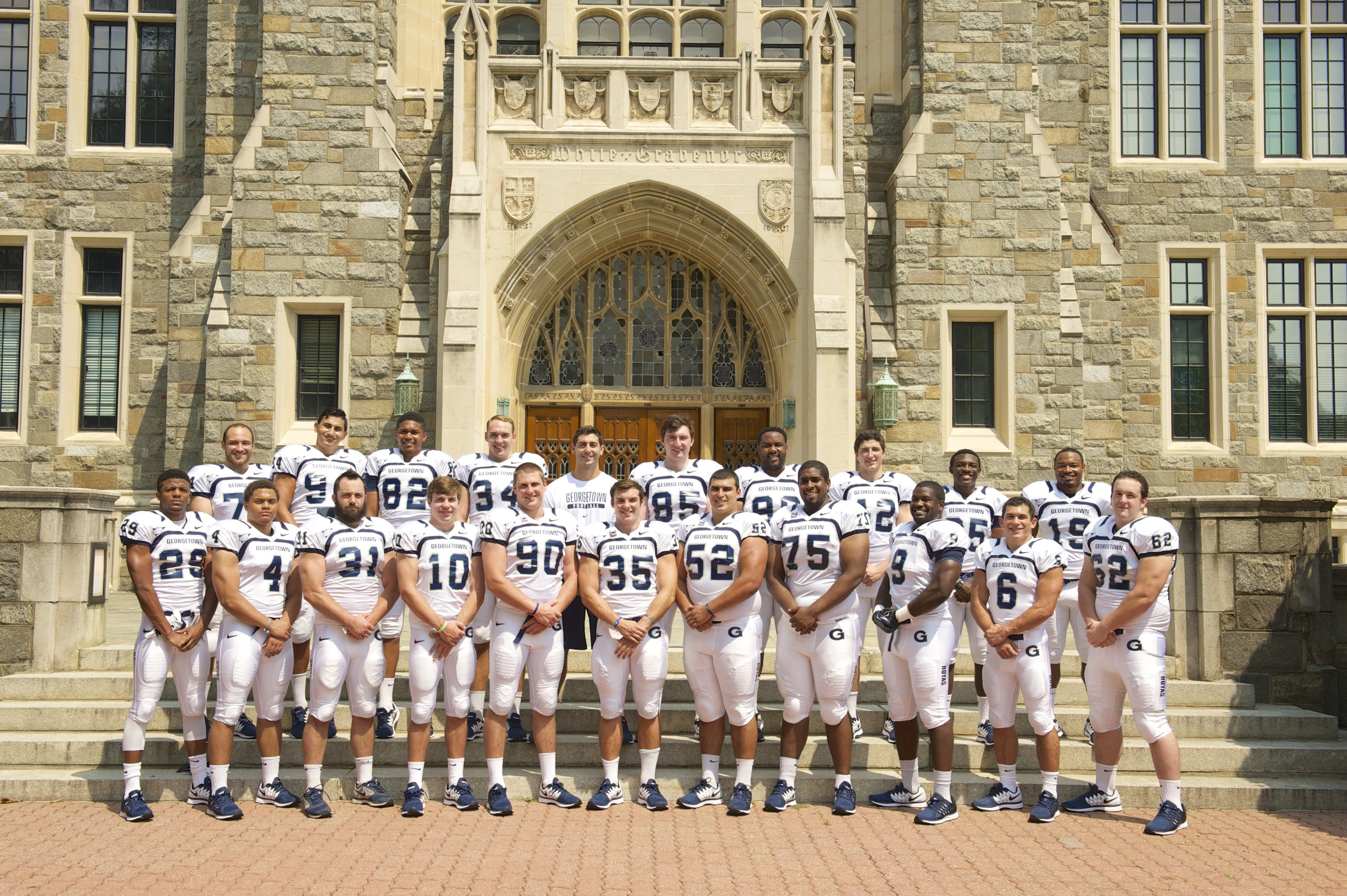 Georgetown will honor 21 seniors on Saturday prior to its game with Holy Cross.