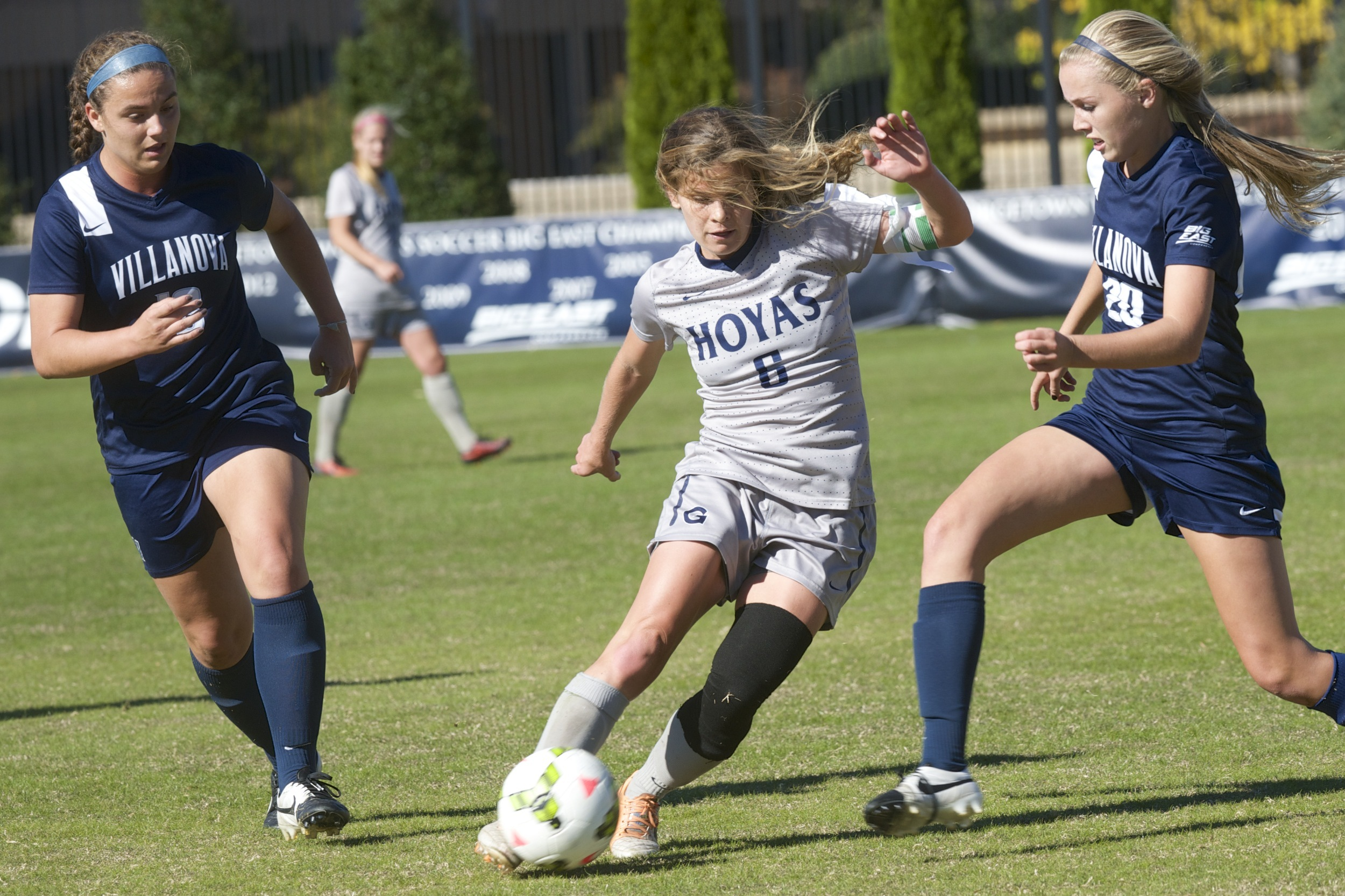 Georgetown University senior women's soccer player Daphne Corboz was among 16 Division I women's soccer players selected as a semifinalist for the Missouri Athletic Club's Hermann Trophy, recognizing the top player in the country.
