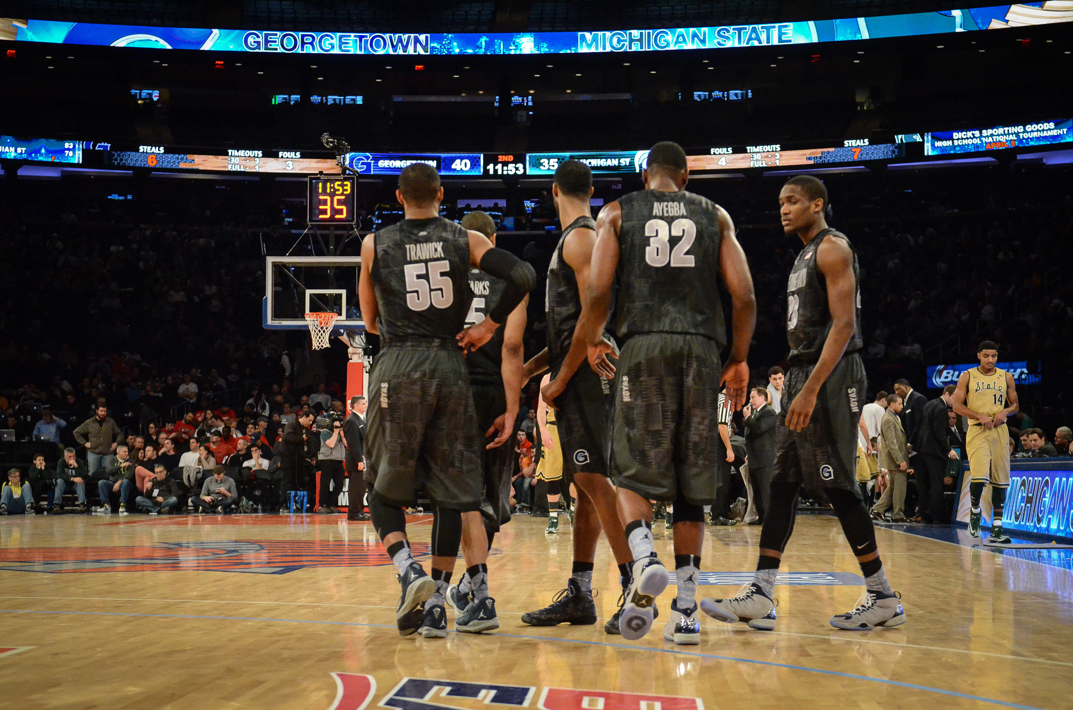 The Georgetown University men's basketball team had little time to revel in its second win over a top-10 team this season, flying to Chicago on Saturday night as the Hoyas ready for another BIG EAST Conference game, this time on Monday, Feb. 3 when they visit DePaul at AllState Arena.  Tip-off is slated for 9 p.m. ET.