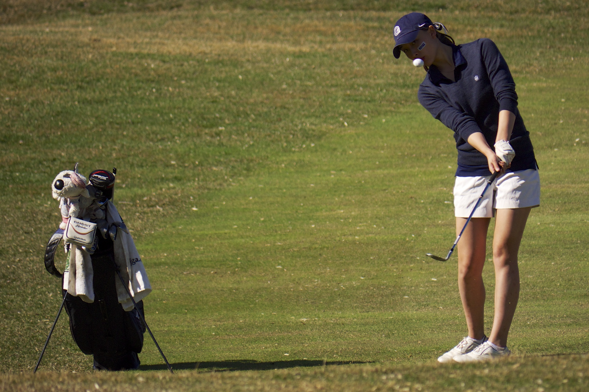 Georgetown is in ninth place after the first day of play at the Hoya Invitational.