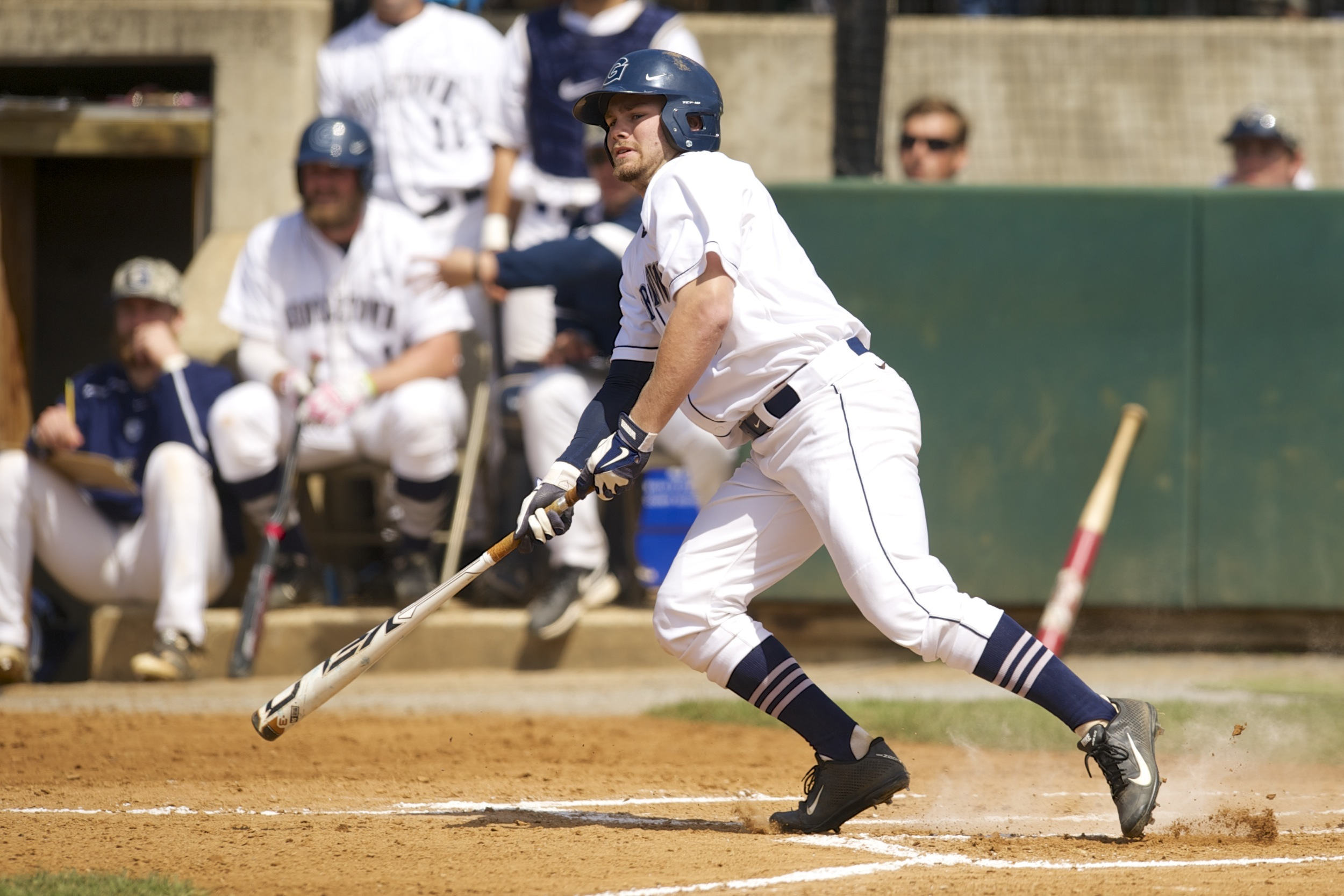 Beau Hall reached base twice with a double and a walk on Friday.
