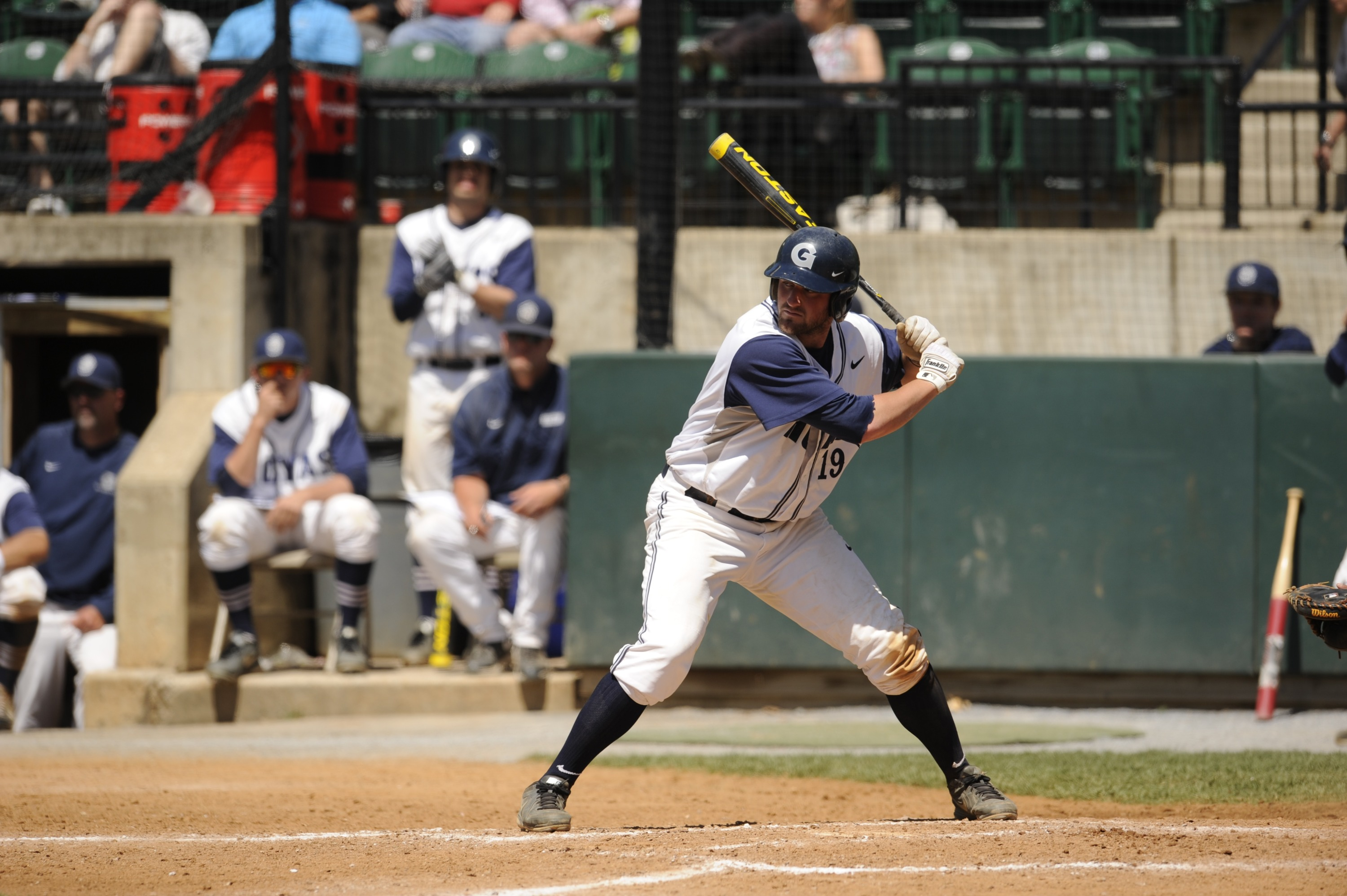 Steve Anderson had four hits, four RBI and was on base five times on Tuesday.