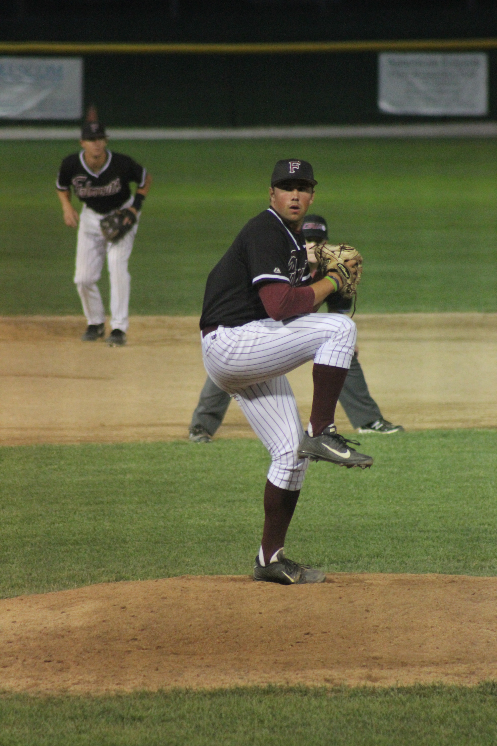 Matt Hollenbeck is pitching for the Falmouth Commodores of the prestigious Cape Cod League.