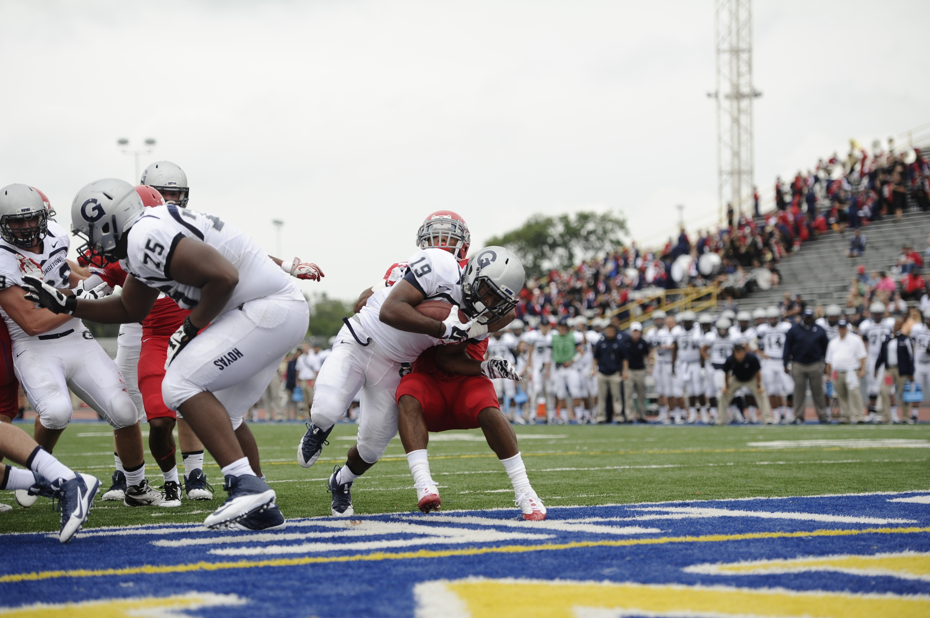 Daniel Wright scored his first career touchdown at Dayton last week.