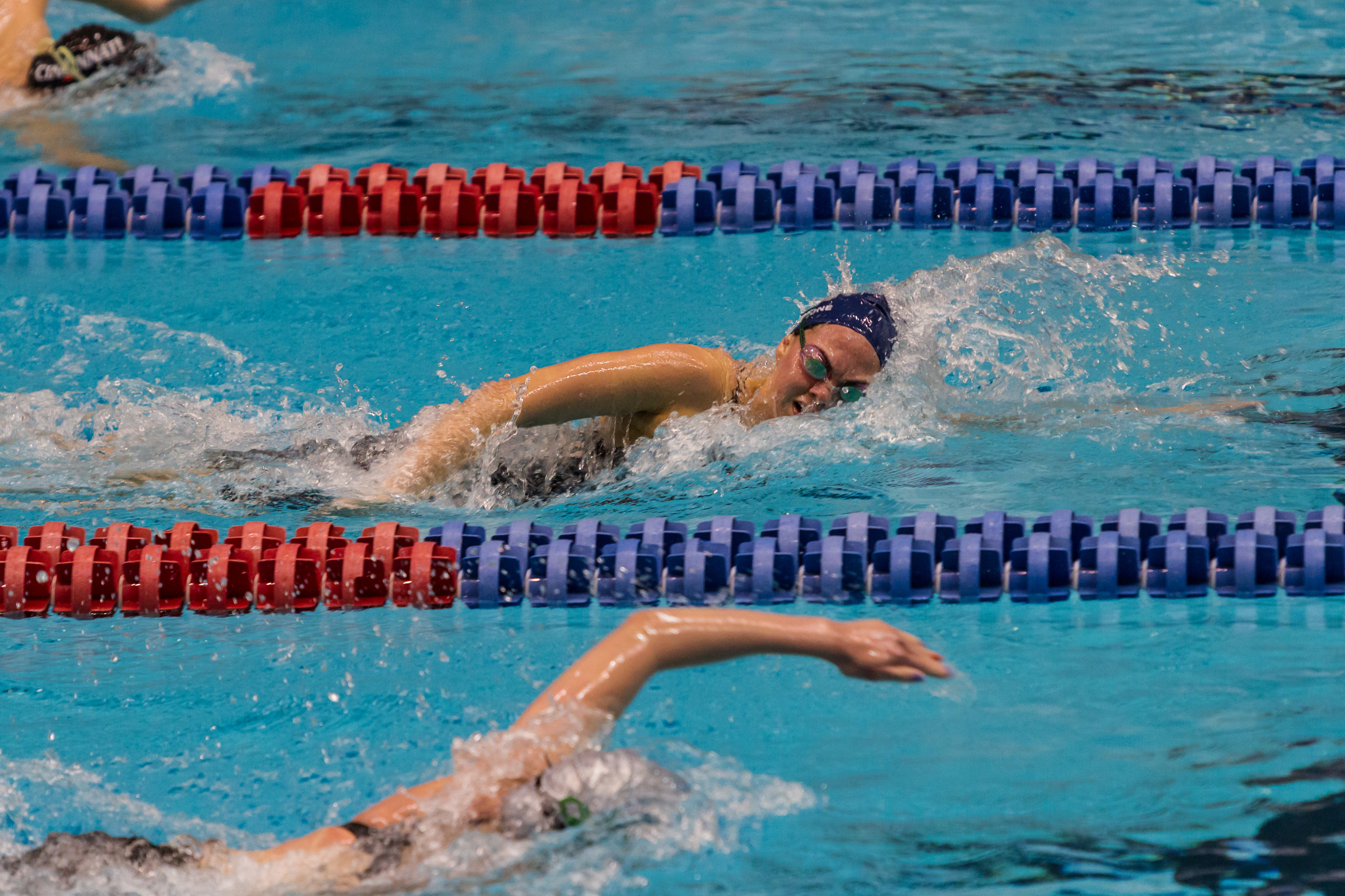 The Hoyas fell to Davidson during a Saturday meet.