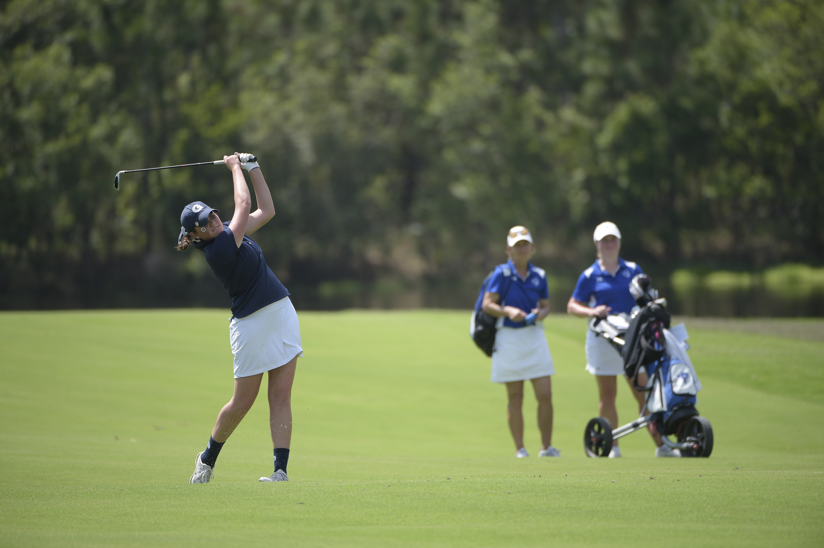 Jacquelyn Eleey shot a 1-over par 73 on Sunday to finish at 5-over par 149 for two rounds and won the individual title at the Princeton Invitational, held at Springdale Golf Club in New Jersey.