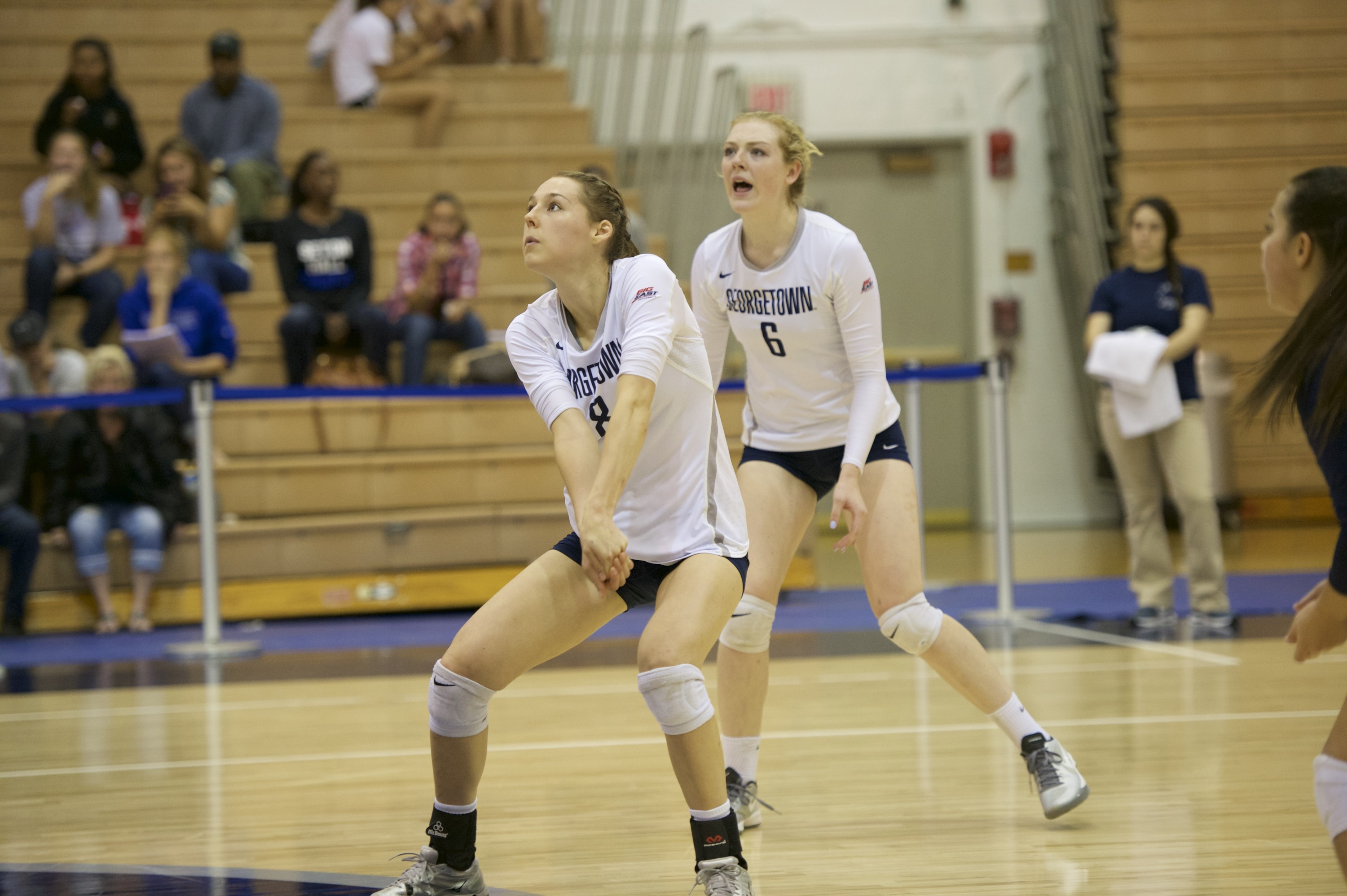 Senior Lauren Saar finished with 19 kills and 20 digs in her final match in a Georgetown uniform.