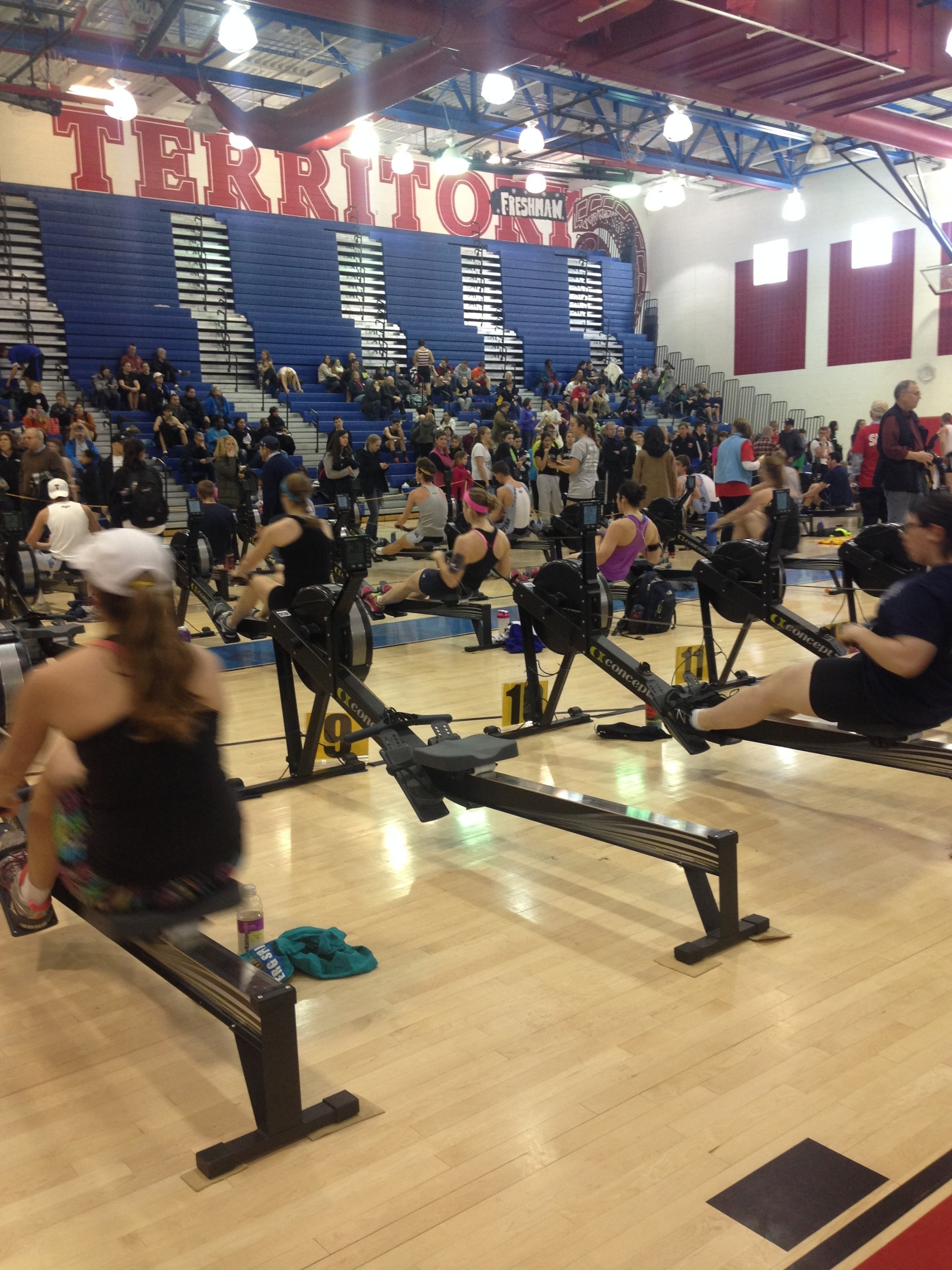 The Erg Sprints is the largest indoor rowing event for juniors in the United States.