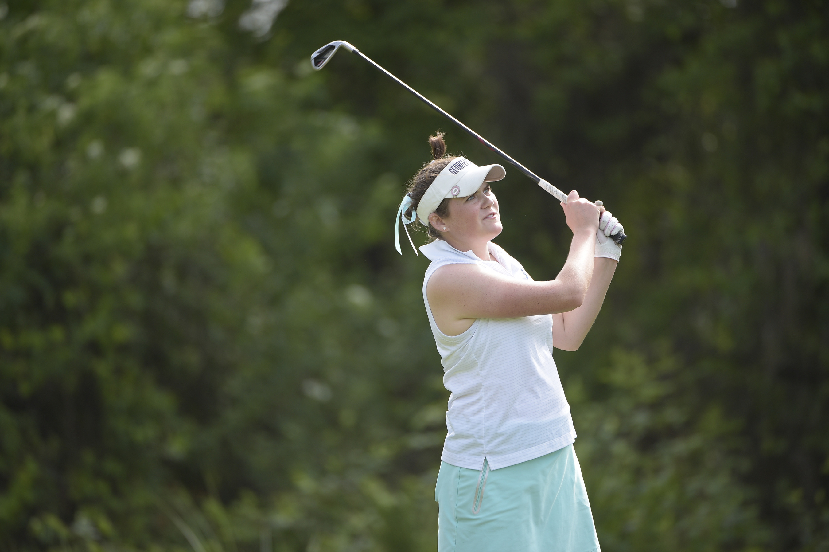 Freshman Jacquelyn Eleey (Quincy, Mass./The Taft School) has the individual lead and the Georgetown University women's golf team is tied for the team lead after the first day of play at the BIG EAST Championship, being held at LPGA International in Daytona Beach, Fla.