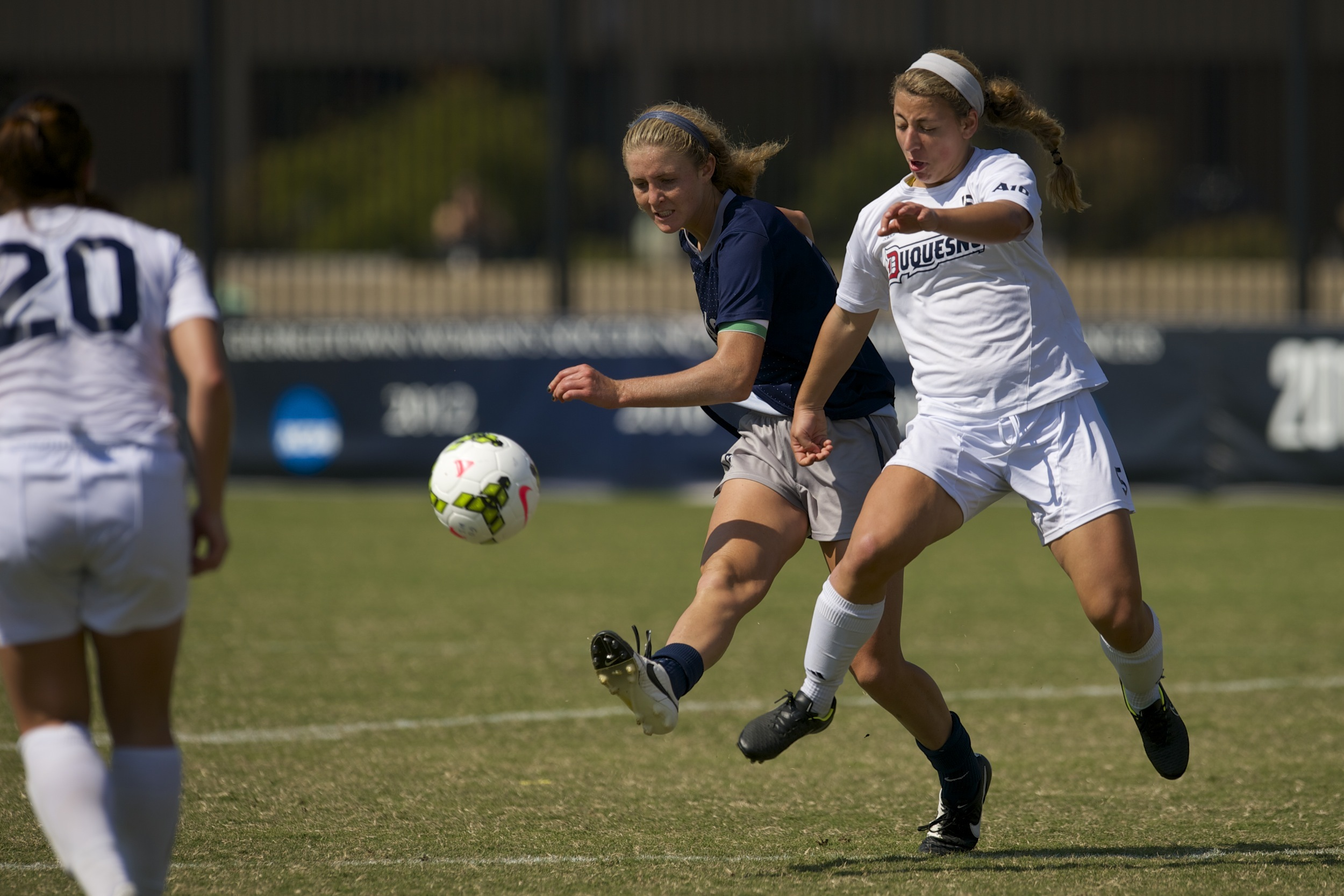 The Georgetown University women's soccer team played its final exhibition game before the start of the 2015 regular season on Saturday evening, playing to a scoreless draw at the University of Richmond.